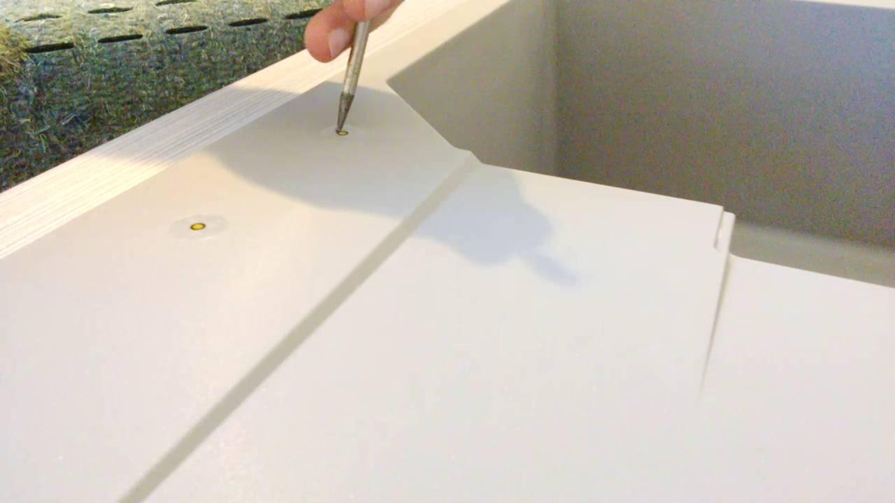 schock sp le loch f r die armatur oder drehknopf drehexcenter durchsto en so einfach geht es. Black Bedroom Furniture Sets. Home Design Ideas