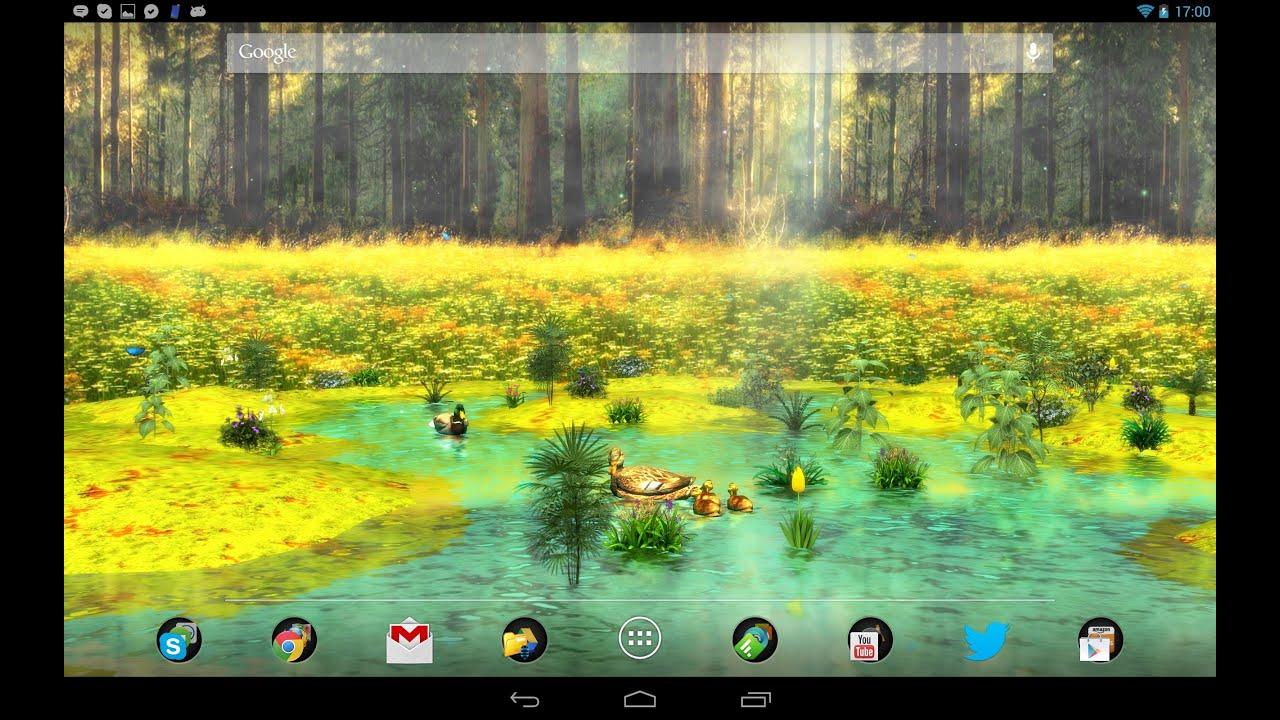 ducks 3d android live wallpaper full