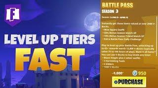 Il modo migliore per RANGO UP TIERS FAST - Stagione 3 Battle Pass (Fortnite Battle Royale)