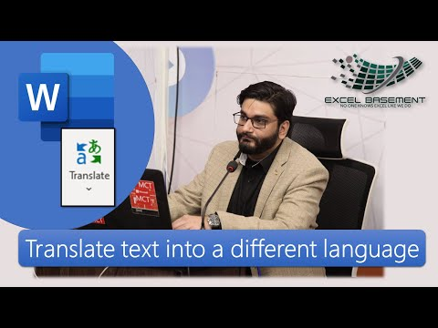 Translate Text Into A Different Language In Microsoft Word 2019 / Microsoft 365
