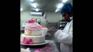 Wedding Cake Decor Gold, Silver And Pink