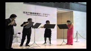 Flute quartet on October 22. 2009