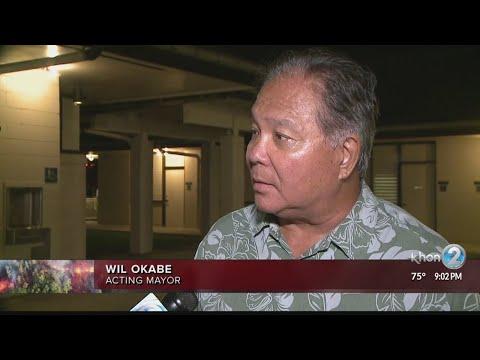 Acting Mayor Wil Okabe on eruption response