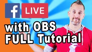 How to Live Stream on Facebook from your Desktop with OBS (open broadcaster software) - #owenvideo