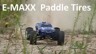 traxxas e maxx brushless mamba monster and paddle tires