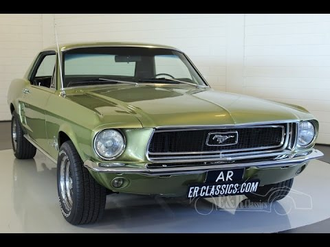 ford mustang v8 coupe 1967 lime gold powersteering double exhaust video. Black Bedroom Furniture Sets. Home Design Ideas