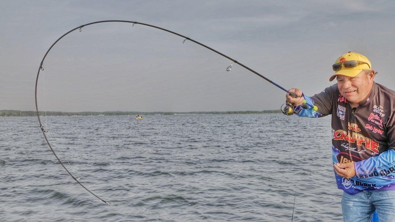 Dock Shooting Crappie Jigs in Open Water