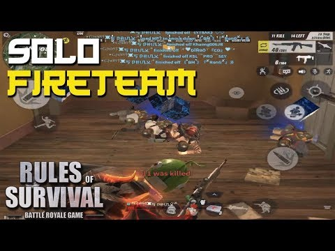 SOLO VS TEAM MONTAGE #3 - Rules of Survival