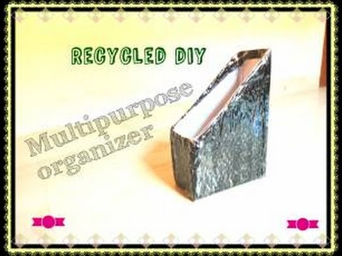 21st recycled diy multipurpose organizer from empty