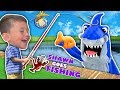 SHAWN's 1st Time FISHING!  Goldfish Challenge against Shark! (FUNnel Fam Vlog)