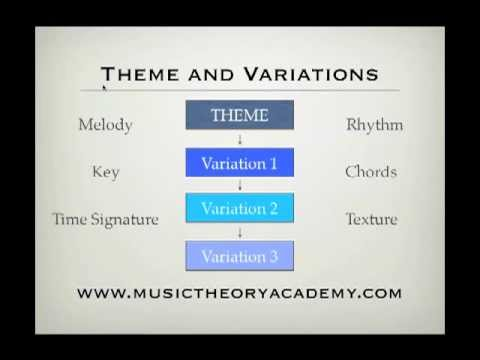 Music Theory Lesson - Theme and Variations