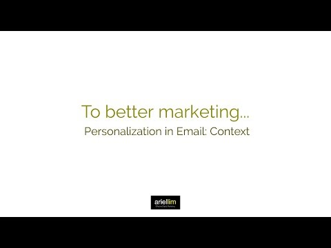 1MMV 046 - Personalization in Email: Context