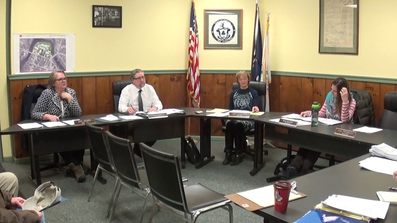 Champlain Village Board Meeting  1-13-20