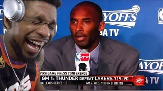 LMFAOO TALK TO HIM KOBE! Reporters Asking NBA Players Stupid Questions