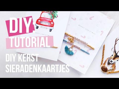 Sieraden maken: DIY sieradenkaartjes voor kerst ♡ DIY