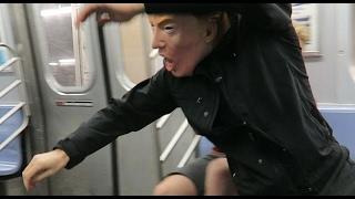 Drunk Trump going by train