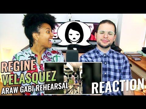 Regine Velasquez  Araw Gabi Rehearsal  REACTION