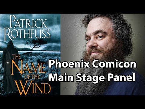 Patrick Rothfuss Drinks Water Panel Phoenix Comicon Ballroom