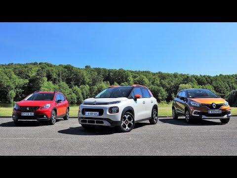 Comparatif statique - La nouvelle Citroën C3 Aircross face aux Renault Captur et Peugeot 2008