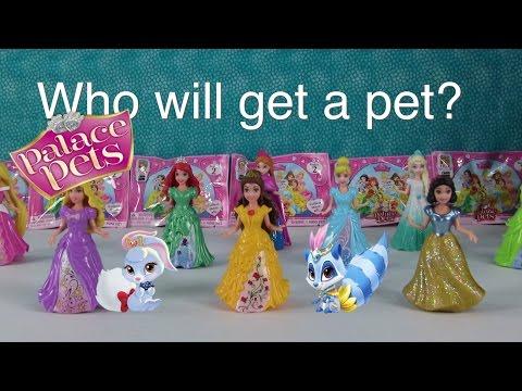 Disney Palace Pets Matching Game Frozen Elsa MagiClip Blind Bag Opening | PSToyReviews