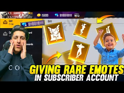 Giving All Rare Emote In Subscriber Id 😍 Buying 12,000 Diamond In Subscriber Id - Garena Free Fire