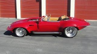 Chopped, custom Boss 429 1967 Jaguar XKE