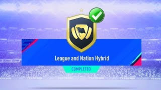 FIFA 19 LEAGUE AND NATION HYBRID SBC CHEAPEST SOLUTION | SQUAD BUILDING CHALLENGE | FIFA 19