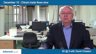 90 seconds @ 9am : China's trade flows slow