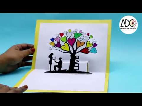 How to Make Beautiful LOVE Card with Paper DIY Card Making Step by Step