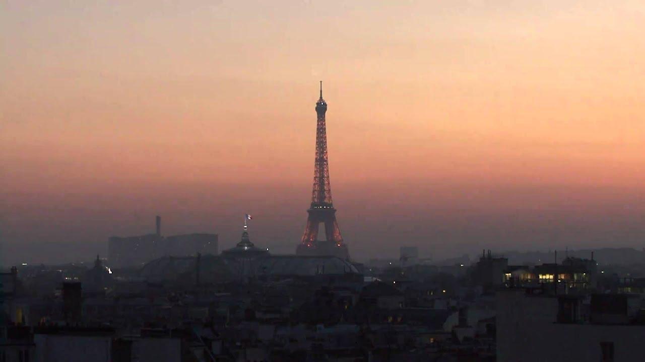 En hd coucher de soleil sur paris et la tour eiffel hiver 2010 sunset on paris in hd youtube - Coucher de soleil sur paris ...