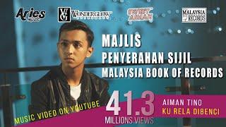 Download Majlis Penyampaian Sijil Malaysia Book Of Records - Aiman Tino (Ku Rela Dibenci) MP3 song and Music Video
