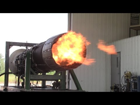 Fighter Jet Engine Test Run July 2015