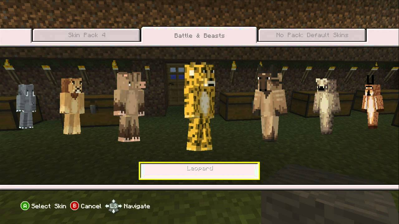 Minecraft Xbox 11 - New Battle and Beasts Skin Pack. (May 11th 11)