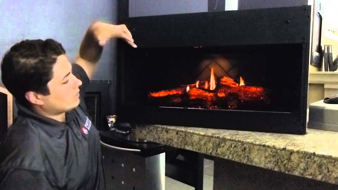Dimplex OptiV Solo Linear Electric Built In Fireplace Product Review  YouTube