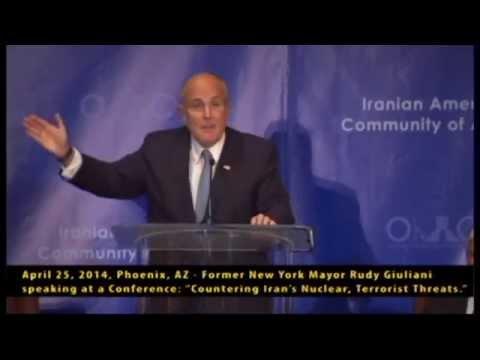 April 25, 2014, Phoenix, AZ - Former New York Mayor Rudy Giuliani