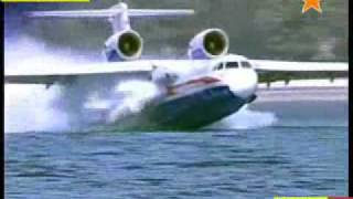 This Russian amphibian aircraft can land and take off from water and land!!!