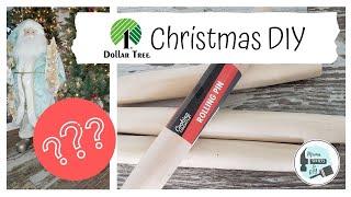 Farmhouse Dollar Tree Christmas DIY~ Using Rolling Pins
