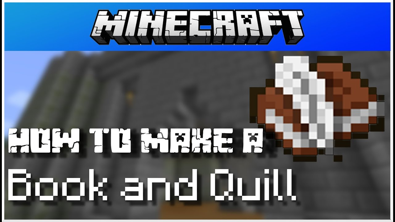 How To Make A Book Minecraft : Minecraft how to make a book and quill pc youtube
