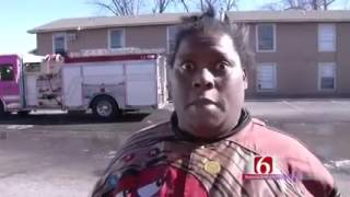 Oklahoma Woman Funny Interview After Casa Linda Apartment Fire -