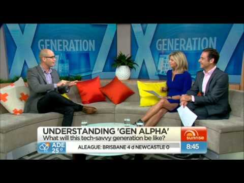Michael McQueen introduces Generation Alpha on Ch 7's Sunrise