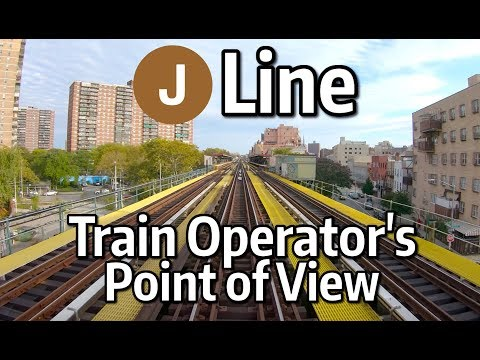⁴ᴷ⁶⁰ NYC Subway Front Window View - The J Line to Jamaica Center