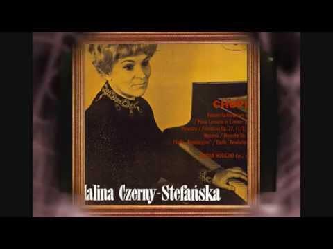 HALINA CZERNY STEFANSKA PLAYS AGAIN CHOPIN ANDANTE SPIANATO & GRAND POLONAISE BRILLANTE Op 22