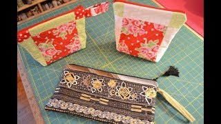 EPISODE 51 - Easy Quilted Fully Lined Zipper Cosmetic Clutch Bag  Full Tutorial