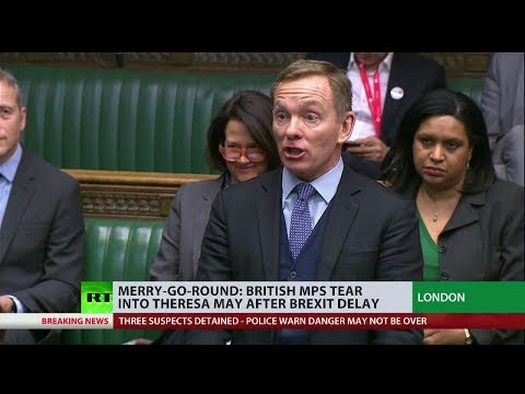 Merry-go-round: British MPs tear into Theresa May after #Brexit delay