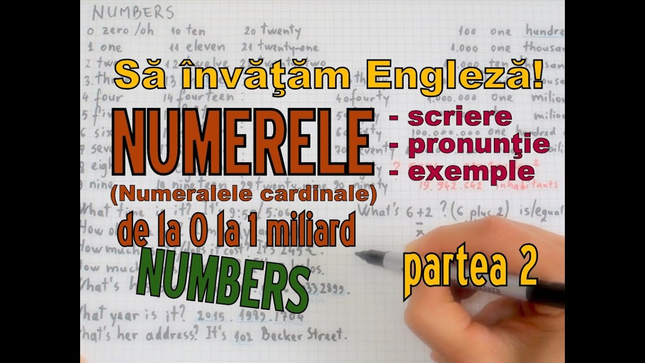 Sa invatam engleza -  NUMERE/NUMBERS (part 2) - Let's Learn English