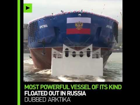 Russia floats out Nuclear powered Arktika icebreaker, set to be world's largest icebreaker