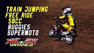 MX vs ATV Untamed - *50cc* *Train Jumping* *Free Ride* *Supermoto*!
