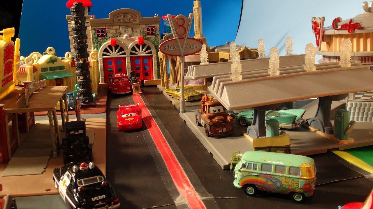 Pixar cars video cut scene earthquake in radiator springs starring