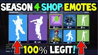 *ALL* FORTNITE SEASON 4 *ITEM SHOP EMOTES!* - LEAKED EMOTES COMING TO FORTNITE BATTLE ROYALE - NEW!