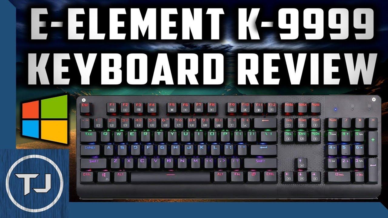 425815142c9 E-Element K-9999 Gaming KeyBoard Review! (Cheap Mechanical Keyboard ...